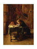 Young Man Working or Youngster Writing, 1852 Giclee Print by Ernest Meissonier