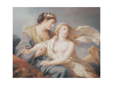 Innocence Takes Refuge in the Arms of Justice Giclee Print by Elisabeth Louise Vigee-LeBrun