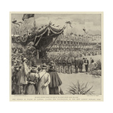 The Prince of Wales at Cannes, Laying the Foundation of the New Albert Edward Pier Giclee Print by Frank Dadd