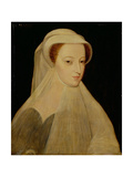 Mary, Queen of Scots in White Mourning Giclee Print by Francois Clouet
