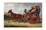Ancient Neapolitan Horse Trap Giclee Print by Filippo Palizzi