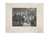 Departure of the King, 19 March 1815, C.1820 Giclee Print by Francois Joseph Heim