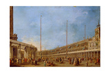 The Procession of the Corpus Domini Through St. Mark's Square, C.1766-70 Giclee Print by Francesco Guardi