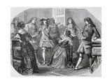 Arrest of Nicolas Fouquet Superintendent of Finance Giclee Print by Felix Philippoteaux