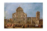 Easter Procession of the Doge of Venice at the Church of San Zaccaria, C.1766-70 Giclee Print by Francesco Guardi
