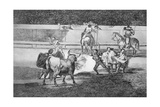 Banderillas with Firecrackers, Plate 31 of 'The Art of Bullfighting', Pub. 1816 Giclee Print by Francisco de Goya