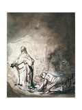 Saul and the Witch of Endor Giclee Print by Ferdinand Bol