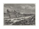 The Great International Horserace at Longchamps Giclee Print by Felix Thorigny