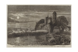 The High Tide in the Seine at Tancarville Point, Opposite Quillebeuf, on the Night of the 9 March Giclee Print by Felix Thorigny