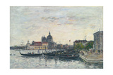 Venice, the Mole at the Entrance to the Grand Canal and the Salute, Evening, 1895 Giclee Print by Eugene Louis Boudin