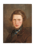 Self Portrait in a Brown Coat, C. 1844 Giclee Print by Ford Madox Brown