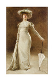 Portrait of a Woman with a Parasol Giclee Print by Francois Edouard Zier