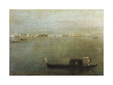 Gondola on Lagoon, Gray Lagoon C. 1765 Giclee Print by Francesco Guardi
