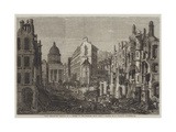 Paris Demolitions, Removal of a Portion of the Quartier Latin Giclee Print by Felix Thorigny
