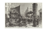 A Street in Naples Giclee Print by Francois Fortune Antoine Ferogio