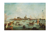 The Doge on the Bucentaur in Front of San Nicolò Del Lido, on Ascension Day, C.1766-70 Giclee Print by Francesco Guardi