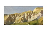 Cliffs of Volterra Giclee Print by Elihu Vedder