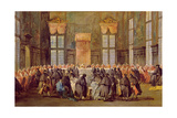 The Doge at the Feast for the Opening of the Carnival of Venice Giclee Print by Francesco Guardi