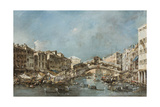 The Rialto Bridge, C.1775 Giclee Print by Francesco Guardi