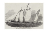 Royal Thames Yacht Club, the Schooner Match Giclee Print by Edwin Weedon