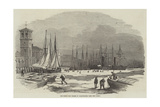 The Frost, the Thames at Billingsgate Giclee Print by Edwin Weedon