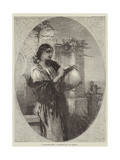 A Spanish Gipsy Giclee Print by Francis William Topham