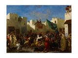 Fanatics of Tangier, C.1837-38 Giclee Print by Ferdinand Victor Eugene Delacroix