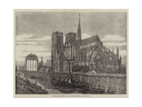 Paris Improvements, Notre Dame Restored, the New Spire Giclee Print by Felix Thorigny