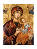 A Cretan Icon of the Mother of God of the Passion Giclee Print by Emmanuel Tzanes