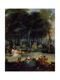 Fair at Bezons, 1725 Giclee Print by Francois Octavien