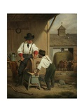 The Scythe Grinder, 1856 Giclee Print by Francis William Edmonds