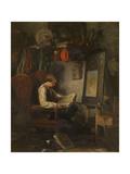 Young Artist in a Studio Giclee Print by Ferdinand De Braekeleer