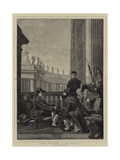 Papal Retainers at the Vatican Giclee Print by Ferdinand Heilbuth