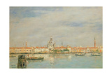 The Giudecca from the Zatteri, Venice Giclee Print by Eugene Louis Boudin