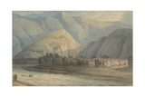 The Grange at the Head of the Keswick Lake, 1786 (W/C and Ink on Paper) Giclee Print by Francis Towne