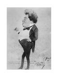 Caricature of Alexandre Dumas, Fils Giclee Print by Eugene Giraud