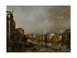 View Up the Grand Canal Toward the Rialto, C.1785 Giclee Print by Francesco Guardi