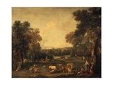 Bull-Hunting Giclee Print by Francesco Zuccarelli