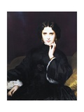 Portrait of Madame De Loynes, 1862 Giclee Print by Eugene Emmanuel Amaury-Duval
