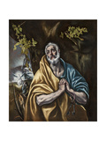 The Penitent Saint Peter, C.1590-95 Giclee Print by  El Greco