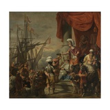 Aeneas at the Court of Latinus, C.1661-C.1664 Giclee Print by Ferdinand Bol