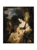 Vertumnus and Pomona, 1644 Lámina giclée por Ferdinand Bol