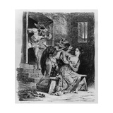 Faust Rescues Marguerite from Her Prison, from Goethe's Faust, 1828 Giclee Print by Ferdinand Victor Eugene Delacroix