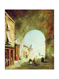 View of a Venetian Street Giclee Print by Francesco Guardi