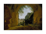 A View of a Garden, Seen from Within a Roman Vault, 1802 - 1824 Giclee Print by Francois-Marius Granet