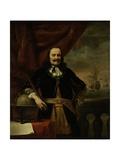 Michiel De Ruyter as Lieutenant-Admiral, 1667 Lámina giclée por Ferdinand Bol