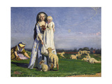 The Pretty Baa-Lambs, 1852 Giclee Print by Ford Madox Brown