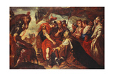 Coriolanus Persuaded by His Family to Raise the Siege of Rome, C.1660-61 Giclee Print by Filippo Abbiati