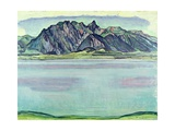 Lake Thun and the Stockhorn Mountains, 1910 Gicleetryck av Ferdinand Hodler