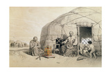 Kalmuks with a Prayer Wheel Giclee Print by Francois Fortune Antoine Ferogio